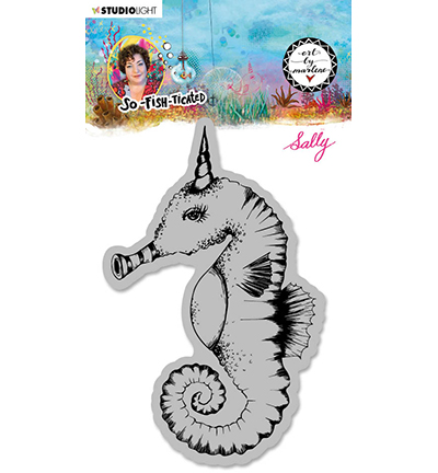 Studiolight, Art by Marlene, Cling Stamp,  So-Fish-Ticated, , Sally (Sea Horse) - ABM-SFT-STAMP16