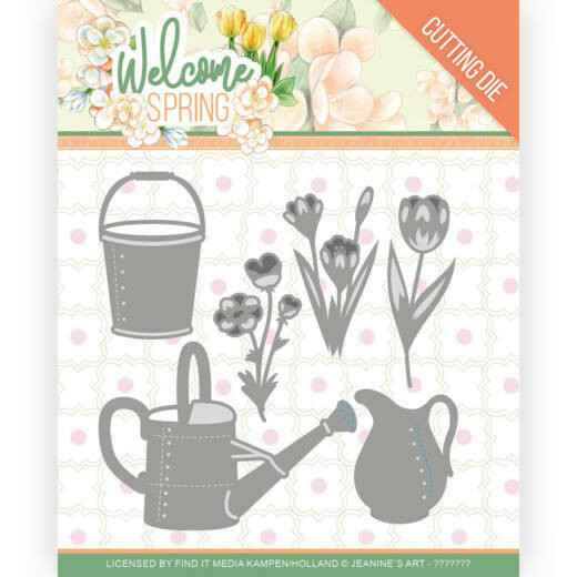 Jeanine's Art, Snijmal, Welcome Spring, Watering Can and Bucket - JAD10117
