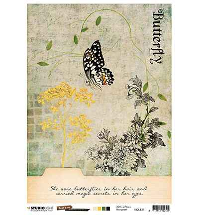 Studiolight, Rice Paper , Butterfly Collection nr. 21 - RICEJL21