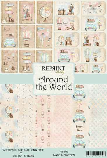 Reprint, Paperpad, Around the World Collection, A4 formaat - RPB006
