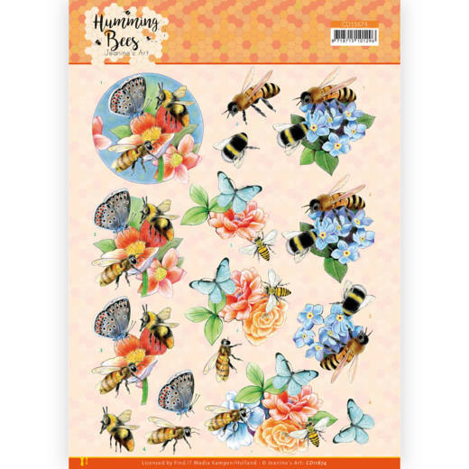 Jeanine's Art, 3D Knipvel, Humming Bees, Bees and Bumblebee - CD11674