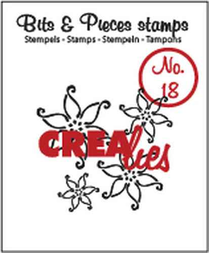 Crealies, Clear Stamp, Bits & Pieces, Flowers 2 - CLBP18
