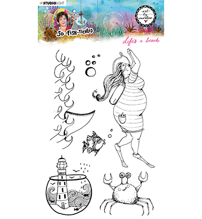 Studiolight, Art by Marlene, Clear Stamp,  So-Fish-Ticated, , Life's a Beach - ABM-SFT-STAMP11