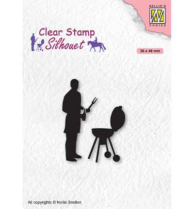 Nellie Snellen, Clear Stamp, Silhouette, Men-Things, Barbecue -  SIL071