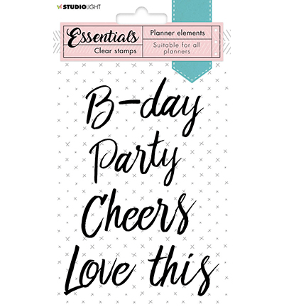 Studiolight, Clear Stamp, Planner Elements, Text Party - SL-PES-STAMP08