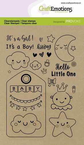 CraftEmotions, Clear Stamp, Baby - 130501/2502