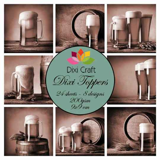 Dixi Craft, Toppers, Beer , Sepia - ET0316