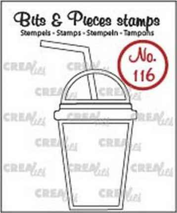 Crealies, Clear Stamp, Bits & Pieces, Smoothie - CLBP116
