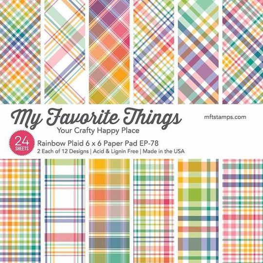 My Favorite Things, Paperpad, Rainbow Plaid, 6x6 inch -  EP-78