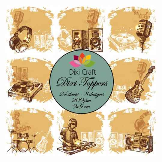 Dixi Craft, Toppers, Music Color - ET0245