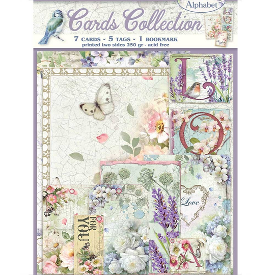 Stamperia, Cards Collection, Flower Alphabet - SBCARD06