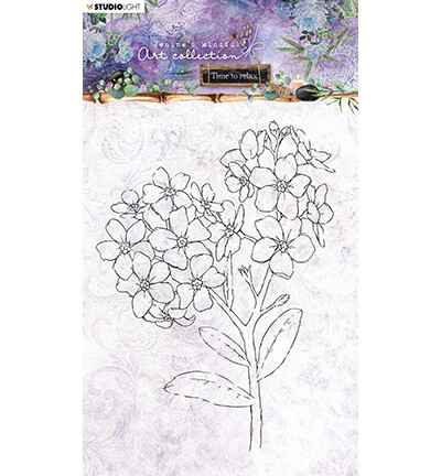 Studiolight, Jenine's Mindful Art, Time to Relax 2.0 , Clear Stamp, Forget-me-not Nr. 22- STAMPJMA22