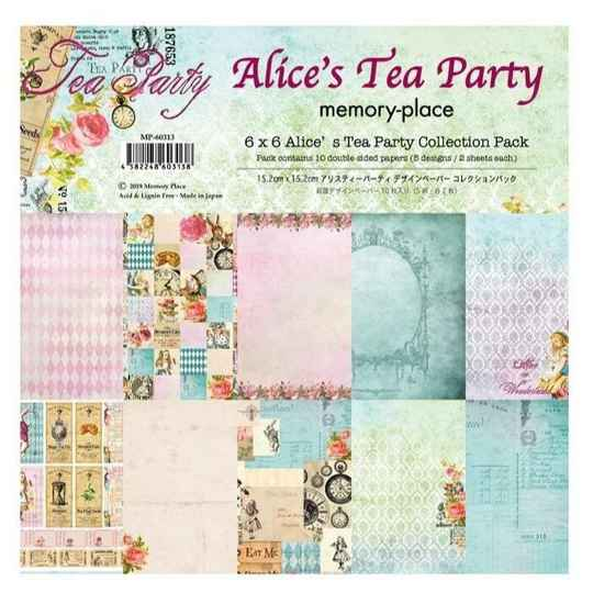 Memory Place, Paperpad, Alice's Tea Party, 6x6 inch - MP-60313