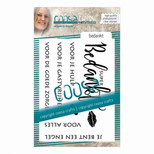 Coosa Crafts, Clear Stamp, Bedankt -  COC-022