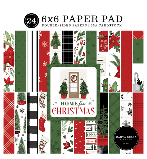 Carta Bella,  Paperpad, Home for Christmas, 6x6 inch
