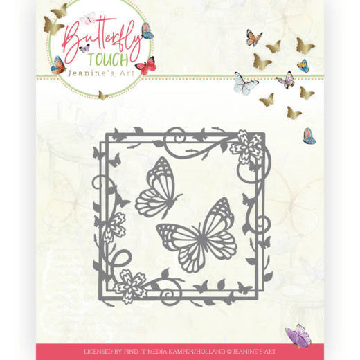 Jeanine's Art, Snijmal, Butterfly Touch, Butterfly Square - JAD10122