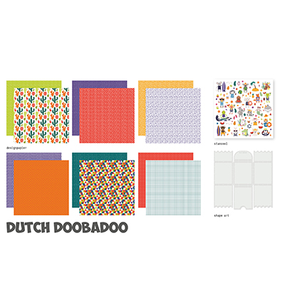 Dutch Doobadoo, Crafty Kit XL, Tropical Vibes  - 473.005.008