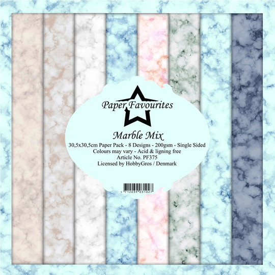 Paper Favourites, Paperpad, Marble Mix , 12x12 inch - PF375
