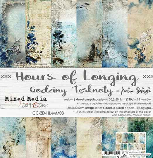 Craft O Clock, Paperpad, Hours of Longing, 30,5 x 30,5 cm
