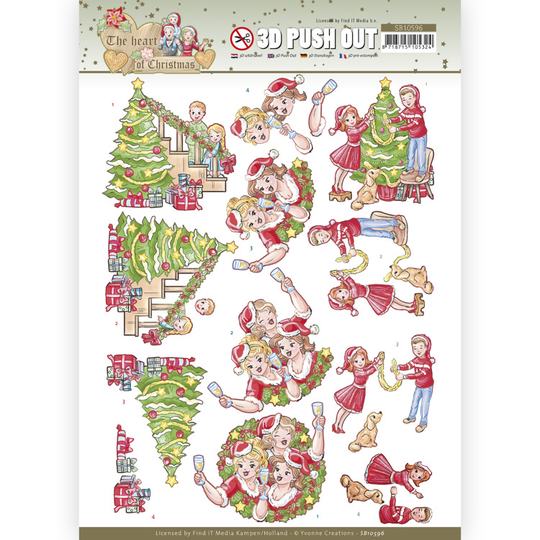 Yvonne Creations , 3D Push Out, The Heart of Christmas, Celebrations - SB10596