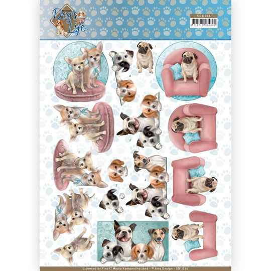 Amy Design, 3D Knipvel, Dog's Life , All Kind of Dogs - CD11366