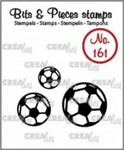 Crealies, Clearstamp, Bits & Pieces, Voetballen - CLBP161