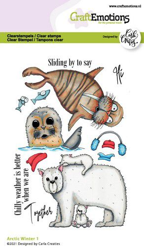 CraftEmotions, Clear Stamp, Carla Creaties, Arctic Winter 1 - 130501/1525