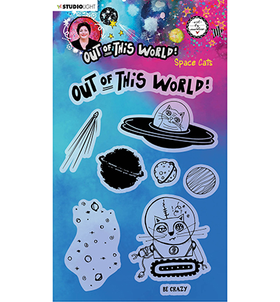 Studiolight, Art by Marlene, Clear Stamp, Out of this World, Space Cats - ABM-OOTW-STAMP71