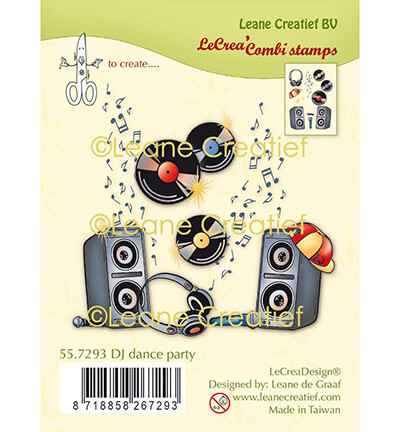 Leane Creatief, Clear Stamp, DJ Dance Party - 55.7293