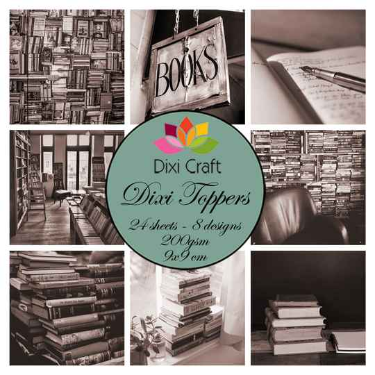 Dixi Craft, Toppers, Books, Brown - ETL034