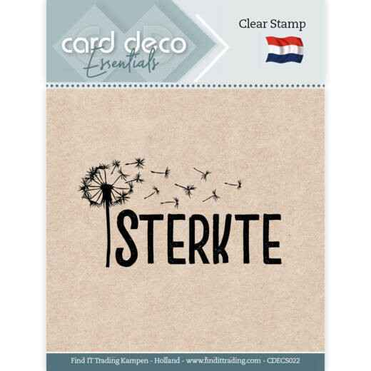 Card Deco, Clear Stamp, Sterkte- CDECS022