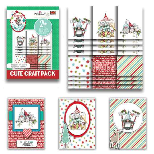PolkaDoodles, Cute Craft Topper Pack, Gnome Together - PD7982