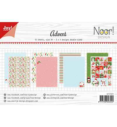 JoyCrafts, Noor Design, Papierset, Design Advent - 6011/0673