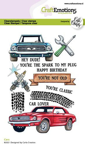 CraftEmotions, Clear Stamp, Carla Creaties, Cars - 130501/1512