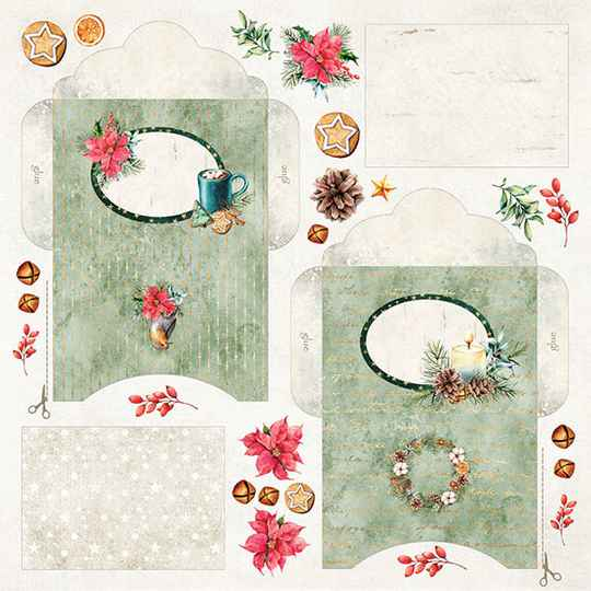 Craft & You, Scrapbookpapier, Envelopes , Christmas Vibes - CP-CV10