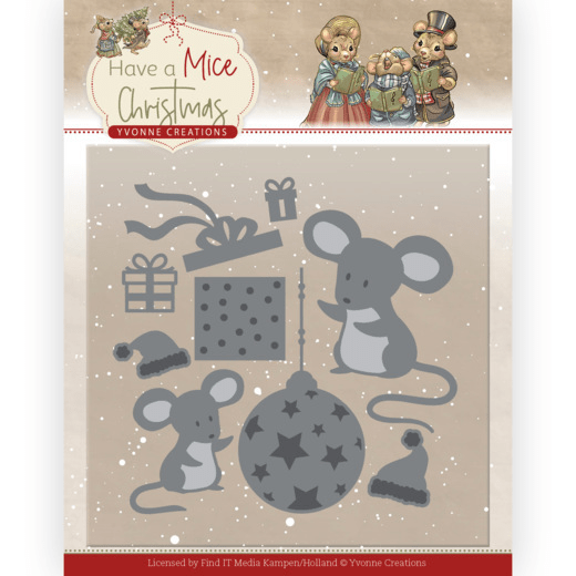 Yvonne Creations, Snijmal, Have a Mice Christmas, Christmas Mouse Gift - YCD10252