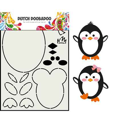 Dutch Doobadoo, Card Art, Built Up, Pinguin - 470.713.842