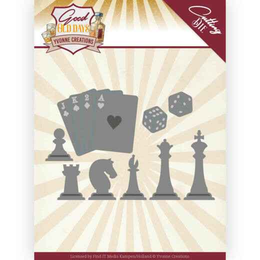 Yvonne Creations, Snijmal, Good old day's, Chess Game -  YCD10223