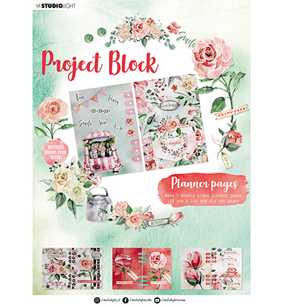 Studiolight, Project Block, Planner Pages, Roses - SL-ES-DCB04