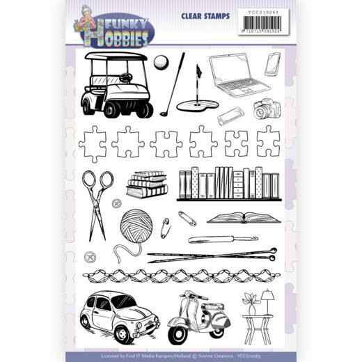 Yvonne Creations, Clear Stamp, Funky Hobbies -  YCCS10063