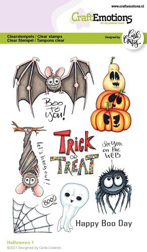 CraftEmotions, Clear Stamp, Carla Creaties,  Halloween 1 - 130501/1524
