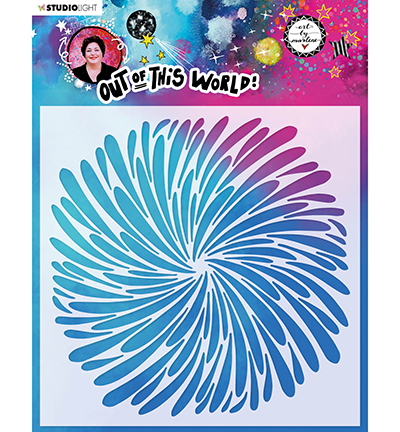 Studiolight, Art by Marlene, Mask Stencil, Out of this World, Wheel of Drops- ABM-OOTW-MASK47