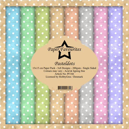 Paper Favourites, Paperpad, Pastel Dots , 6x6 inch - PF166