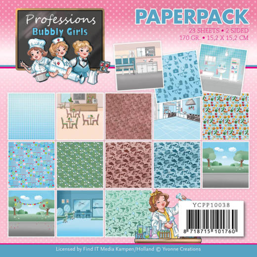 Yvonne Creations, Paperpad, Bubbly Girls, Professions - YCPP10038