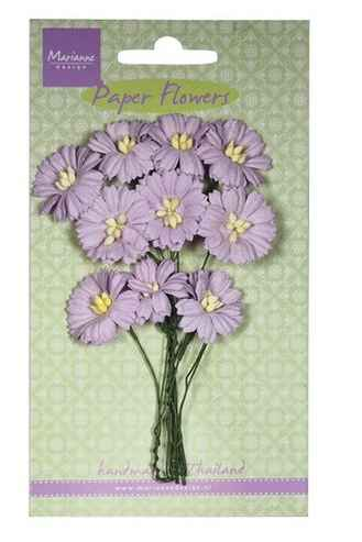 Marianne Design , Paper Flowers, Daisies, Light Lavender - RB2254