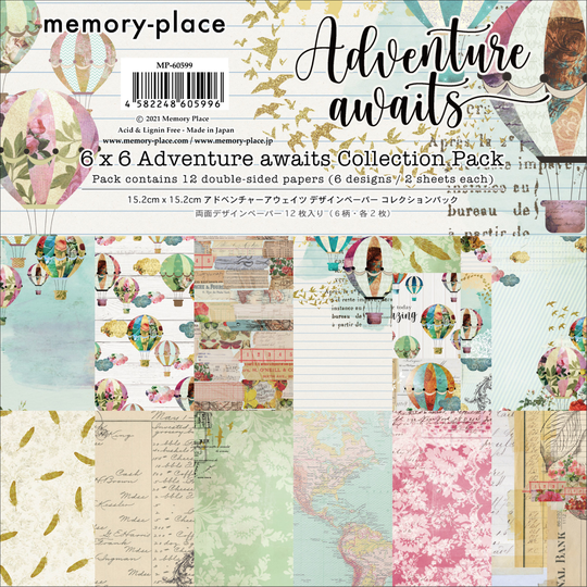 Memory Place, Paperpad, Adventure Awaits , 6x6 inch - MP-60599