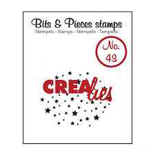 Crealies, Clear Stamp, Bits & Pieces, Stars- CLBP43