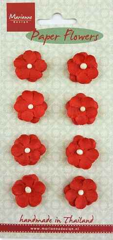 Marianne Design , Paper Flowers, Rood - RB2236