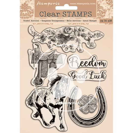Stamperia, Clear Stamp, Romantic Horses - WTK156