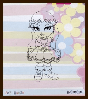 F&F, Clear Stamp, Blossom - BLOSS02
